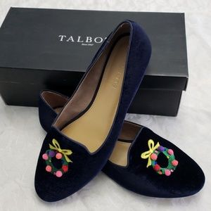 Talbots Ryan Novelty flats in Indigo Blue